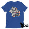 .45 Kinda Girl Tee True Royal Triblend / Xs