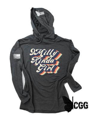 9 Milly Kinda Girl Hoodie Xs / Washed Coal Lightweight
