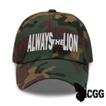 Always The Lion Hat Green Camo