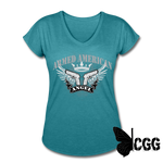 ARMED ANGEL Women's Tee - heather turquoise