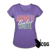 ARMED BABES UNITE Women's Tee - purple heather