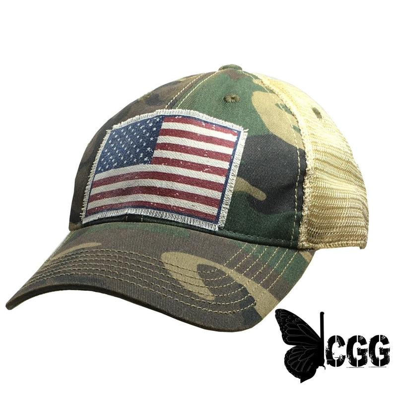 Camo Flag Trucker Hat Trucker