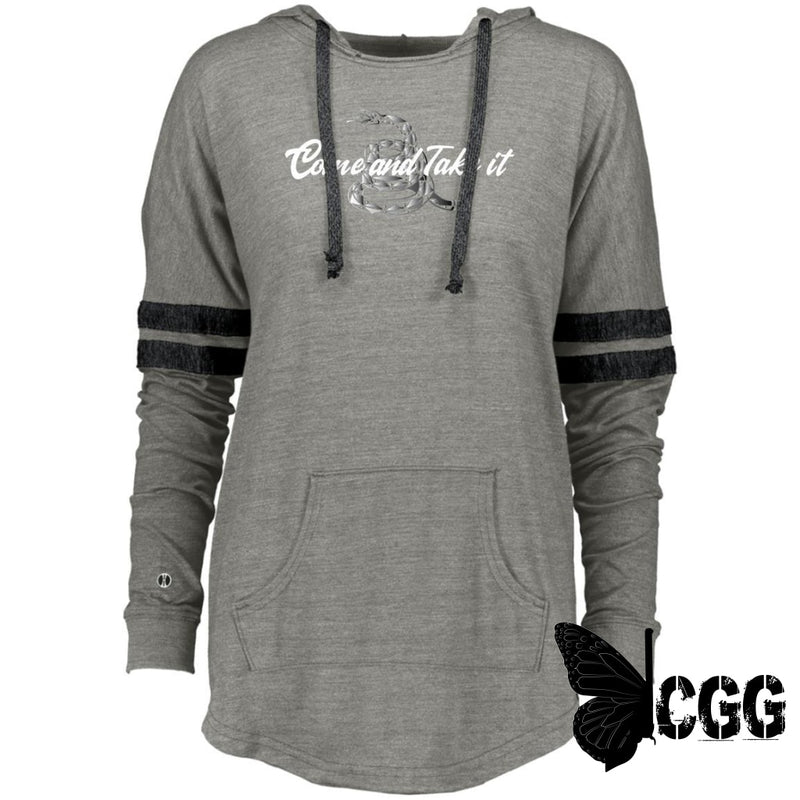 Come & Take It Hooded Pullover Vintage Grey/vintage Black / X-Small Sweatshirts