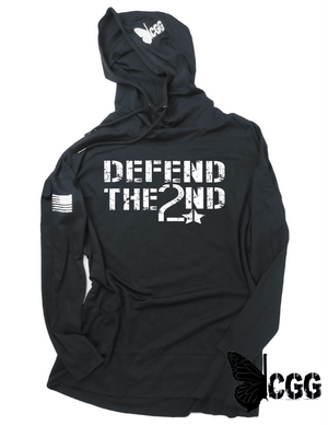 Defend The 2Nd Hoodie Xs / Black Lightweight