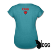 #END HUMAN TRAFFICKING Women's Tee - heather turquoise