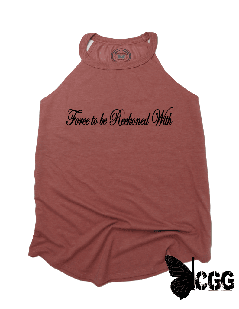Force To Be Reckoned With Badass Tank Xs / Blush Cgg Badass Tank