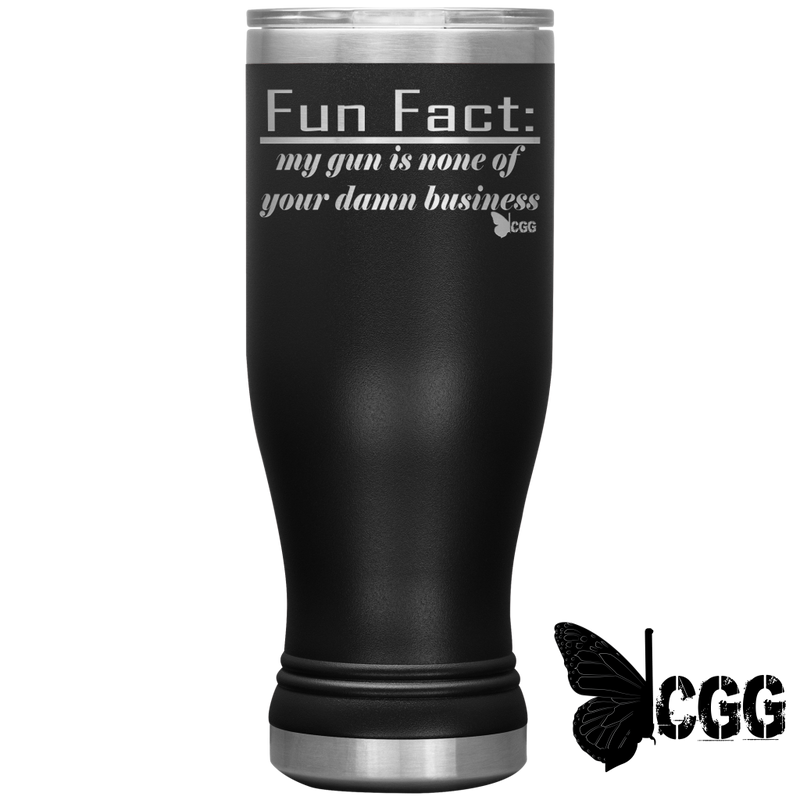 Fun Fact Tumbler Black Tumblers
