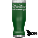 Fun Fact Tumbler Green Tumblers