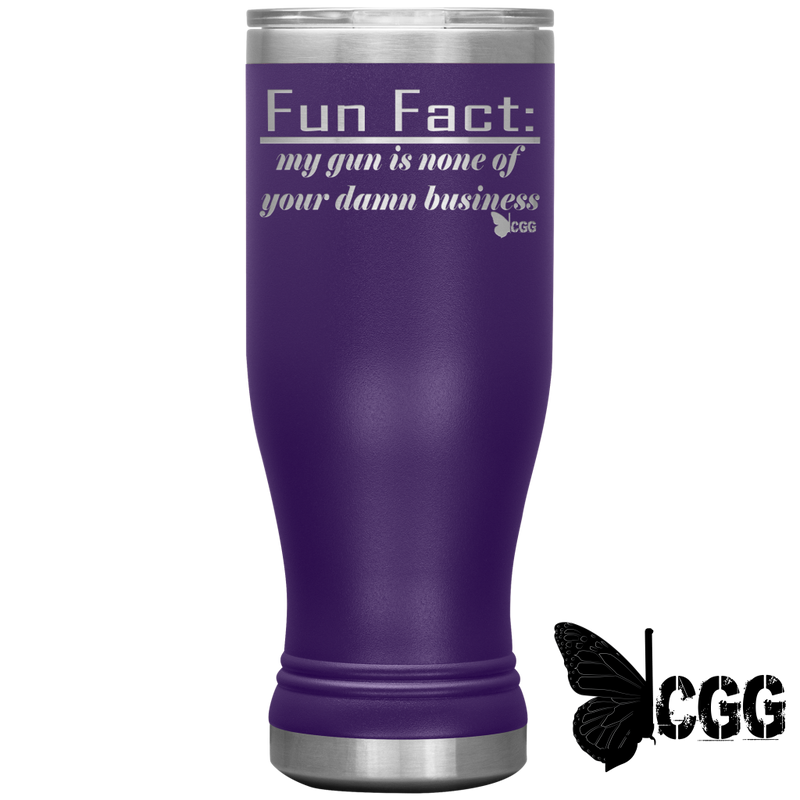 Fun Fact Tumbler Purple Tumblers