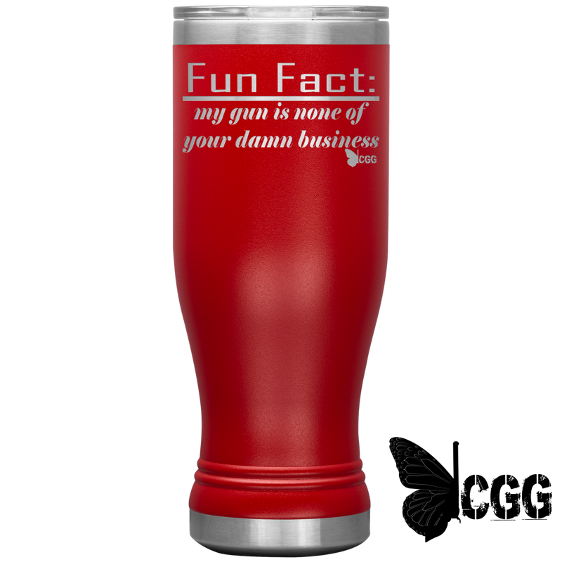 Fun Fact Tumbler Red Tumblers