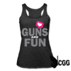 GUNS are FUN Tank - heather black