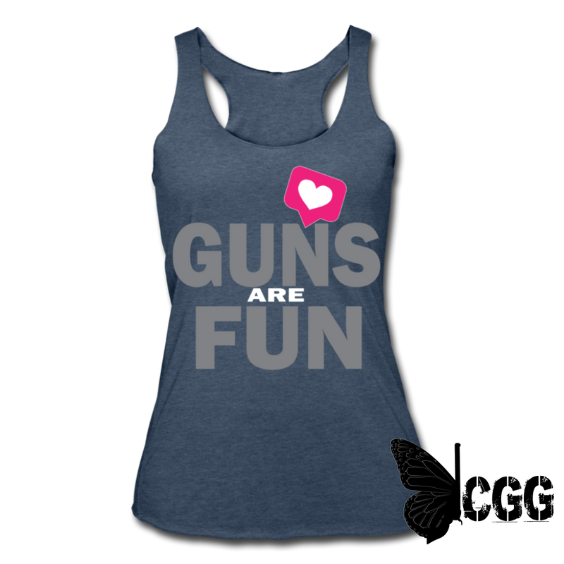GUNS are FUN Tank - heather navy