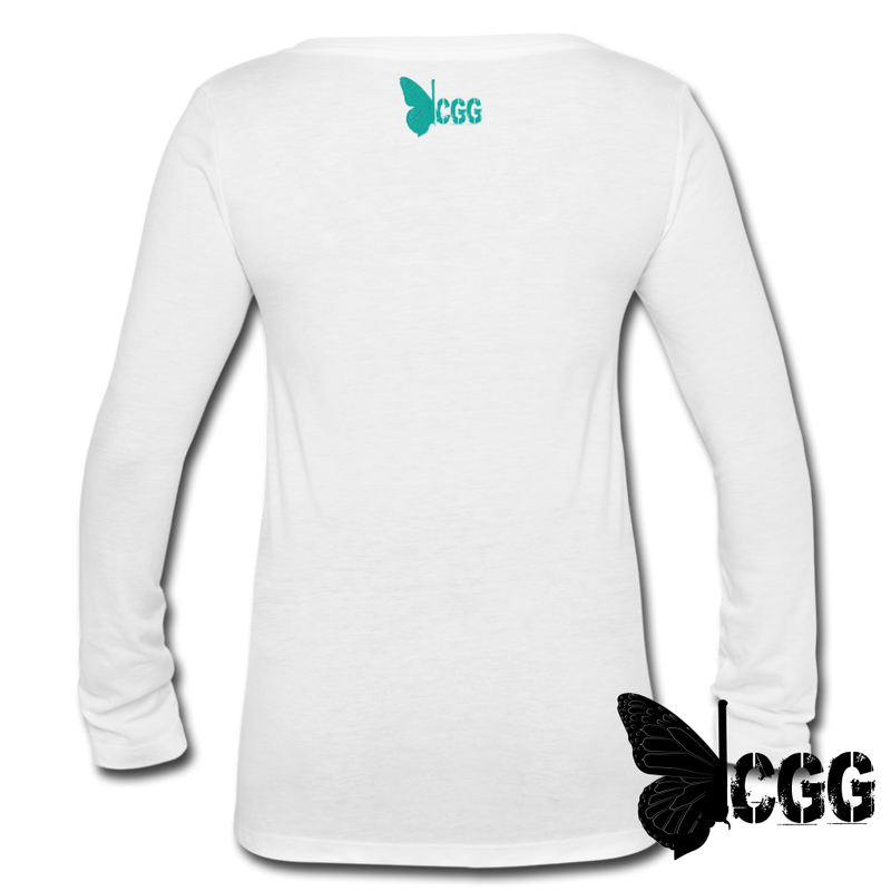 HANDS OFF my RACK Long sleeve Tee - white
