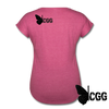 KISS MY BRASS Women's Tee - heather raspberry
