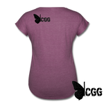 KISS MY BRASS Women's Tee - heather plum