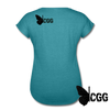 KISS MY BRASS Women's Tee - heather turquoise