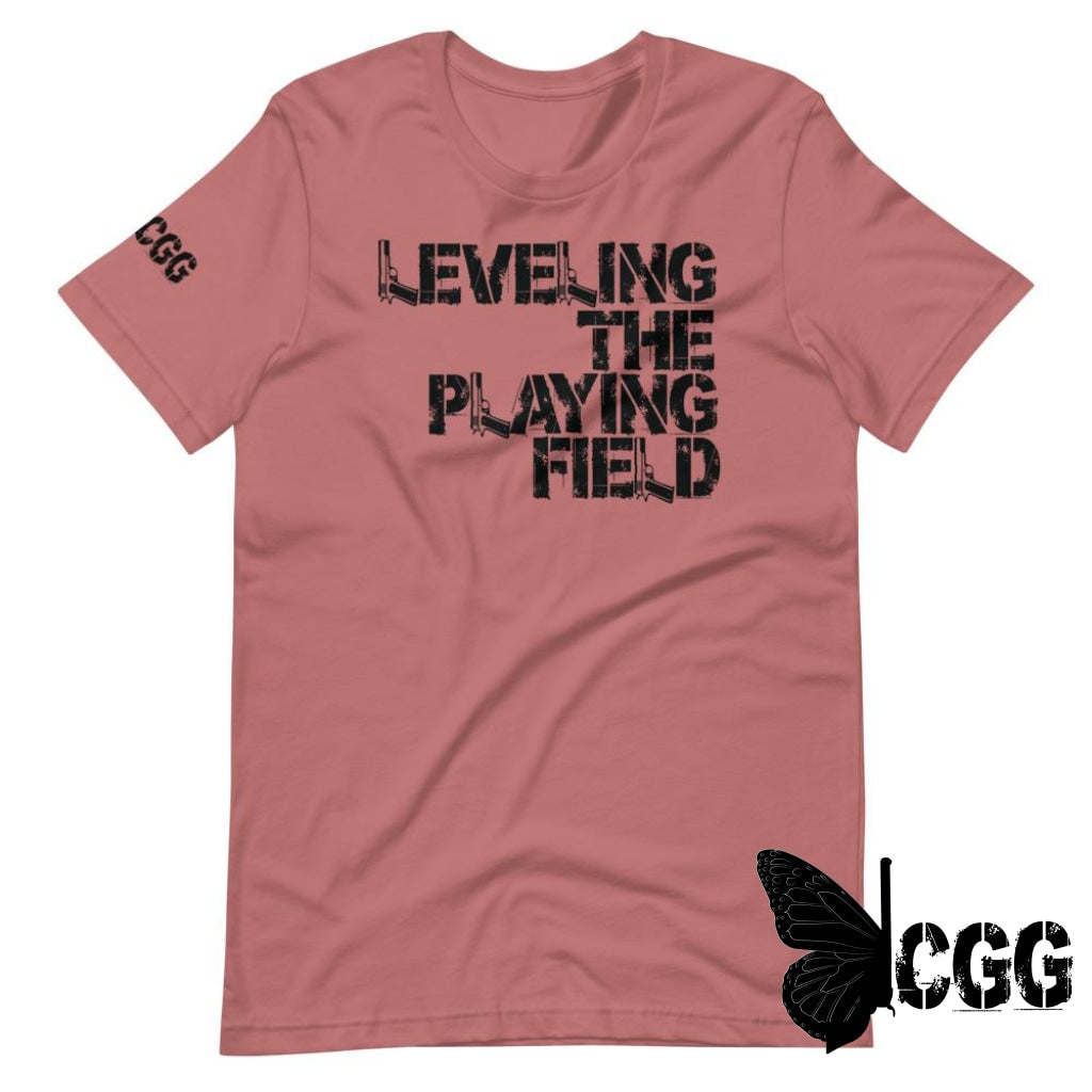 Leveling The Playing Field Tee Mauve / S