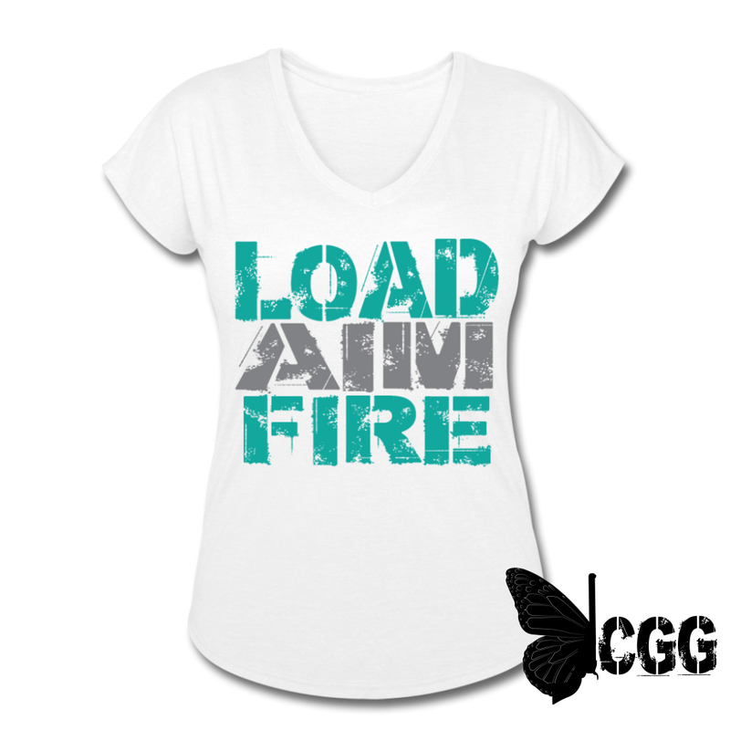 LOAD AIM FIRE Women's Tee - white