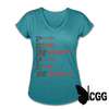 PEW PEW Women's Tee - heather turquoise