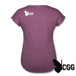 PISTOLS. JESUS. TACOS. Women's Tee - heather plum