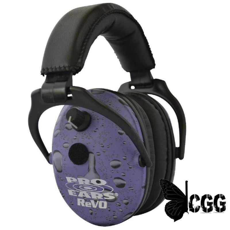 Pro Ears Revo Electronic Ear Muffs Purple Rain
