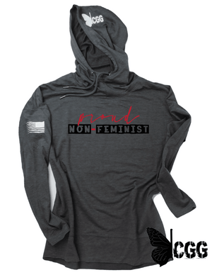 Proud Non-Feminist Hoodie Xs / Washed Coal Lightweight