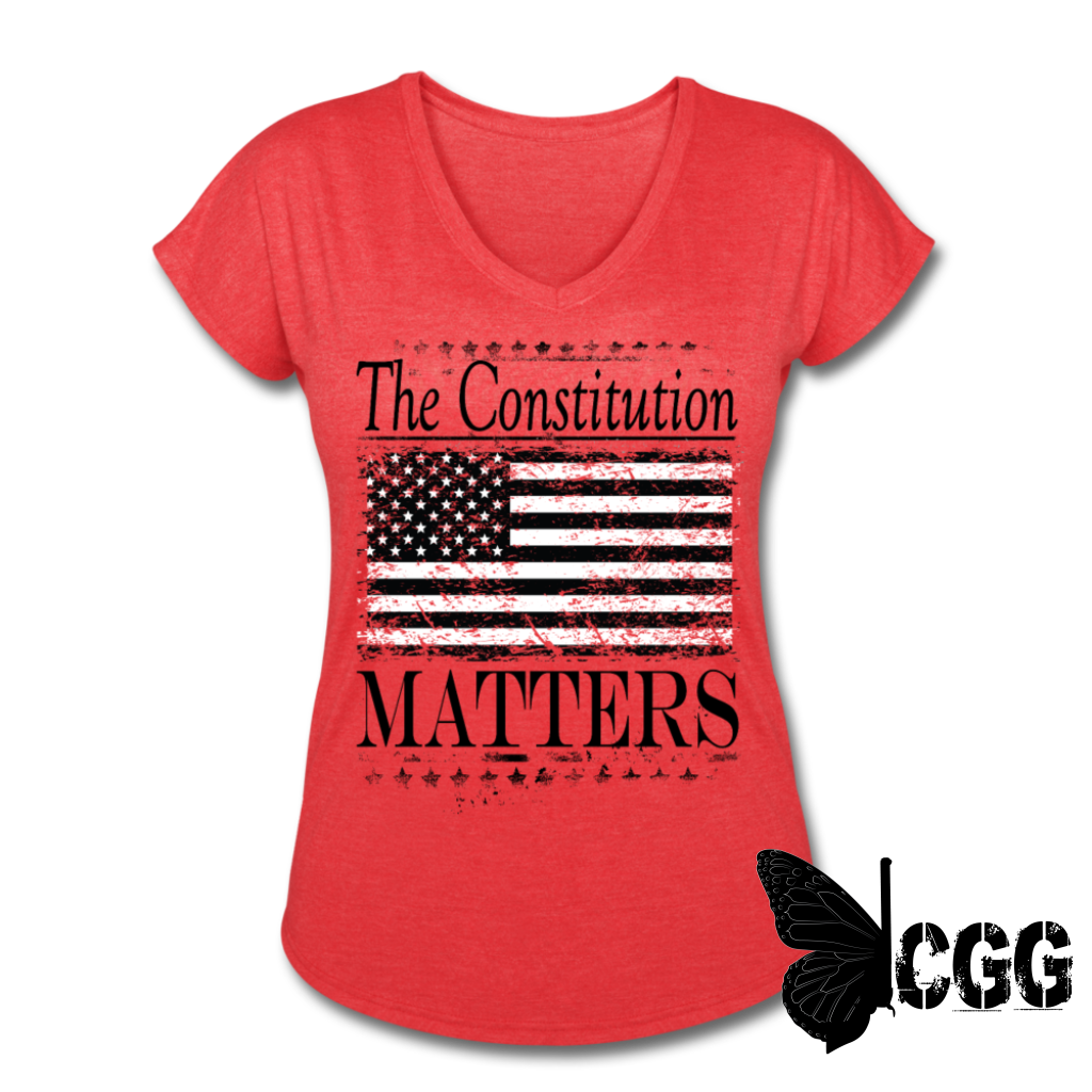 THE CONSTITUTION MATTERS Women's Tee - heather red