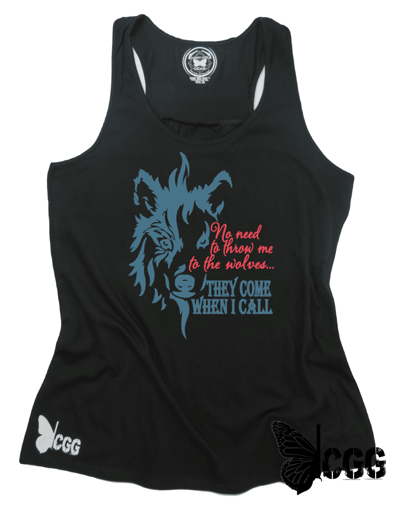 They Come When I Call Tank Xs / Black Cgg Racerback Tank