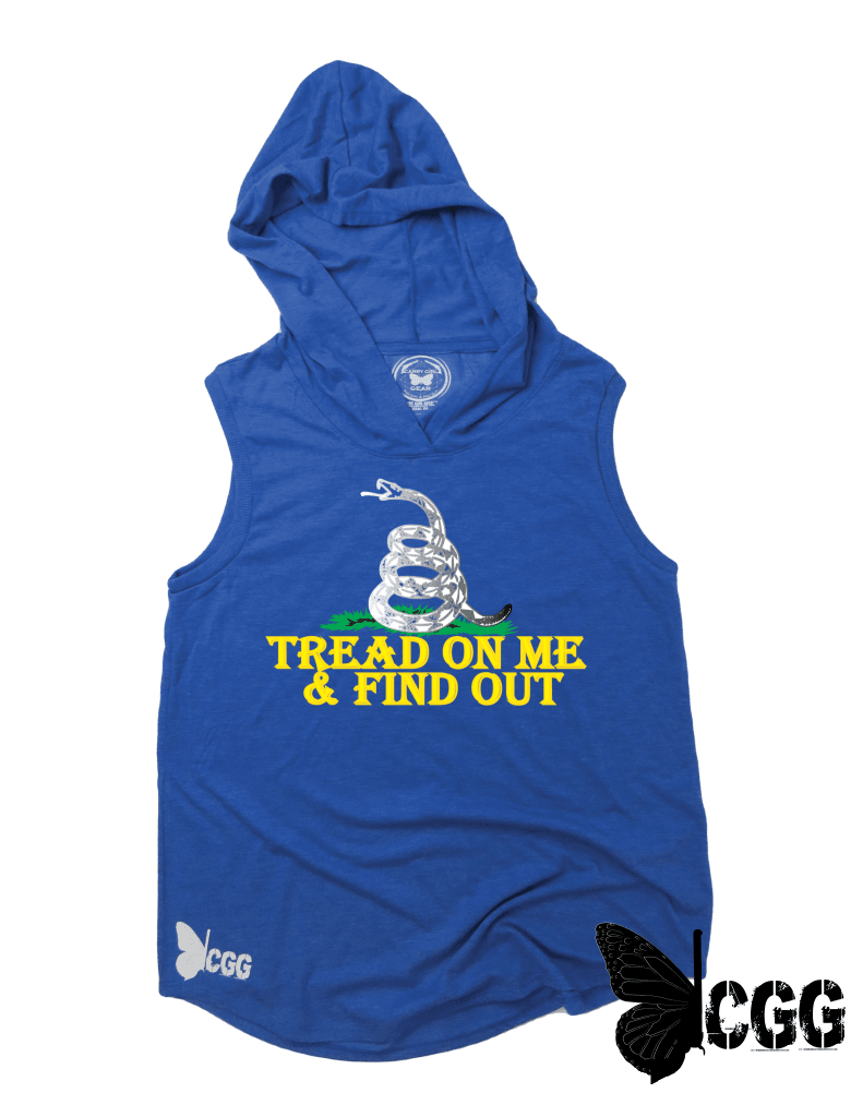 Tread On Me & Find Out Hoodie Tank Royal Blue Frost / Xs Cgg Hoodie Tank