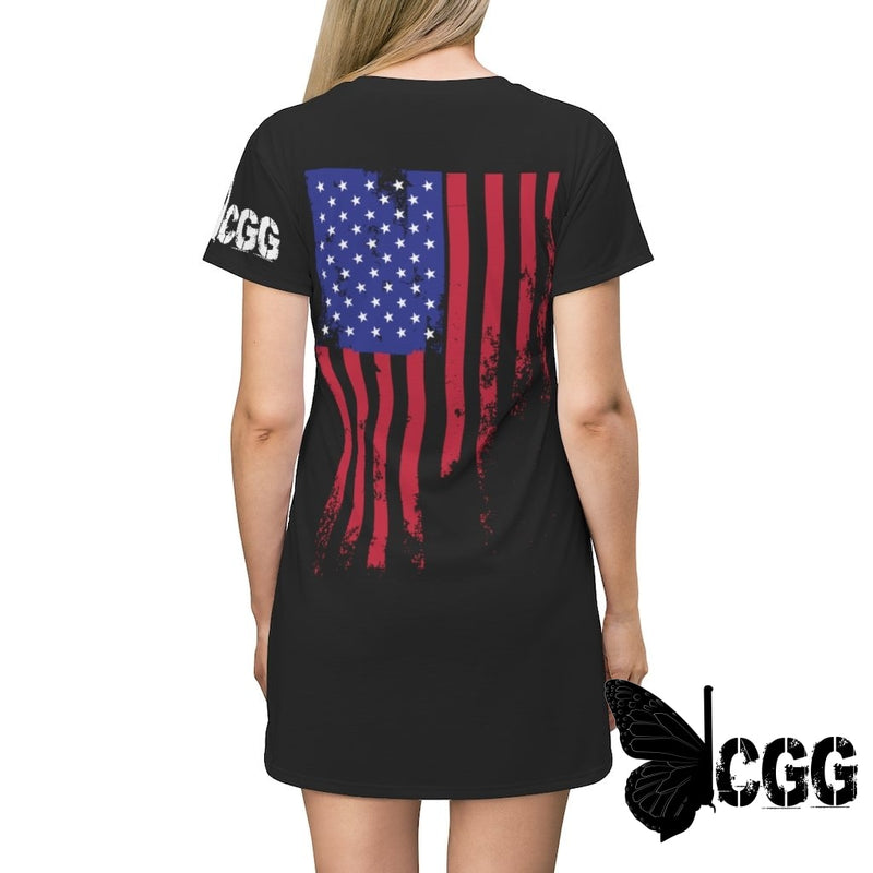 Usa T-Shirt Dress 2Xl Tee