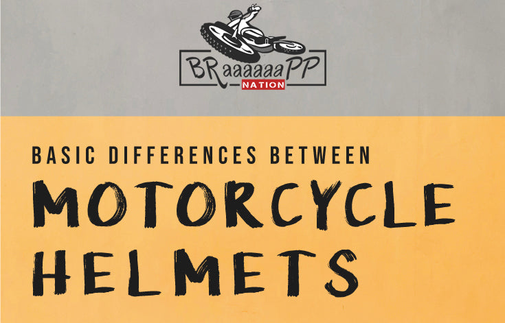 Basic differences between motorcycle helmets | How to choose a motorcycle helmet