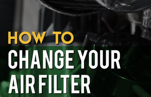 Motorcycle air filter replacement and tips