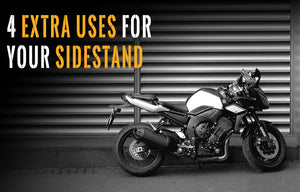 Motorcycle side stand extra uses!