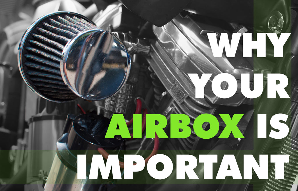 What is the purpose of an airbox on a motorcycle?