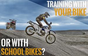 Should we train with our bike, or school bikes?