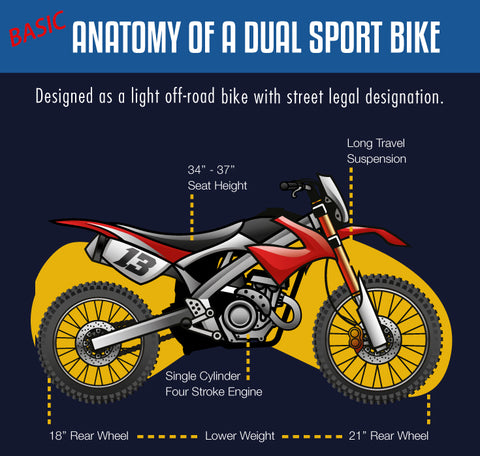 Basic dual sport anatomy