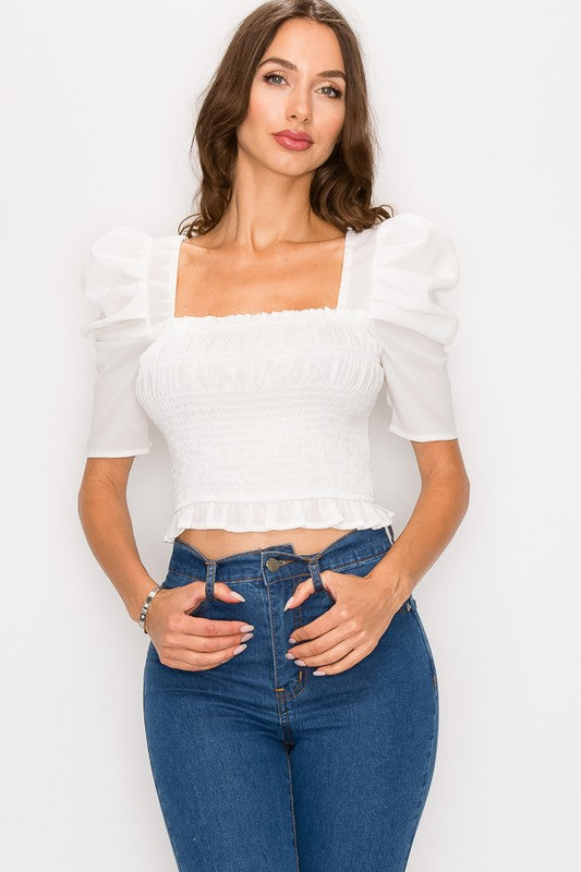White Smock Top