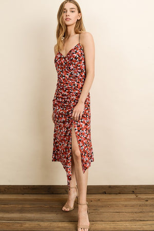 Sakura Ruched Midi Dress