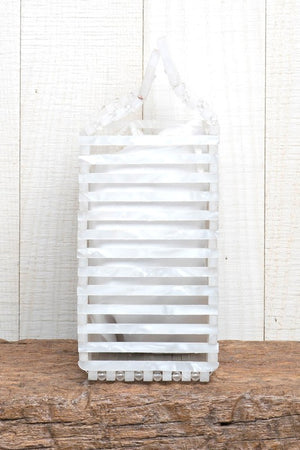 Lovestitch White Pearl Resin Mini Bag