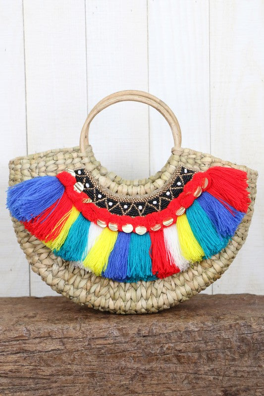 Lovestitch Mini Straw Bag