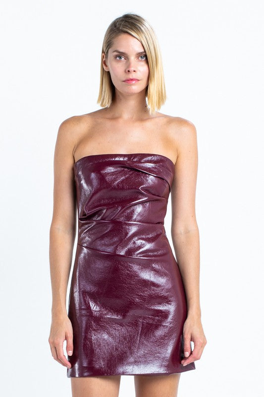 Merlot Faux Leather Mini
