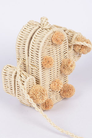Nevada Straw Crossbody Bag
