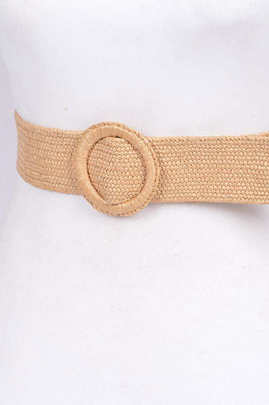 Natural Straw Belt