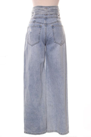 High Waist Wide-Leg Denim