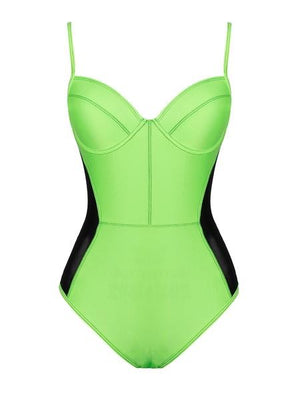 Caicos Neon Green One Piece Swimsuit