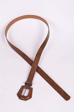 Faux Brown Snake Skin Belt