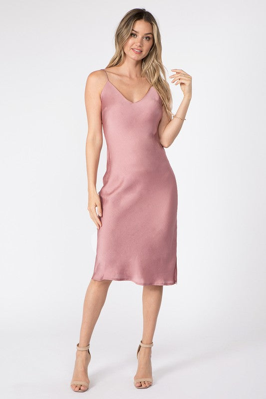 Mauve Midi Slip Dress