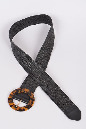 Tortoiseshell Resin Straw Belt