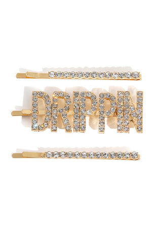 Drippin' Hair Clip Set
