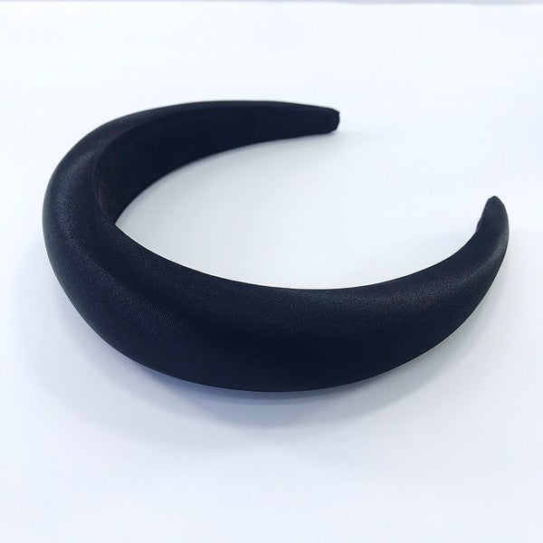 Black Satin Headband